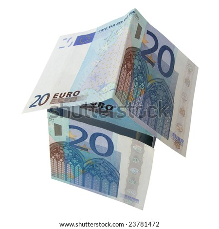 House of money made of Euro banknotes