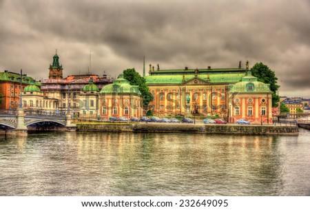 House of Nobility - Riddarhuset in Stockholm, Sweden - stock photo