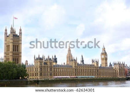House of Parliament and Big Ben, London, United Kingdom - stock photo