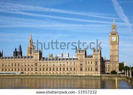 House of Parliament and Thames river