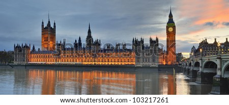 House of Parliament London - stock photo