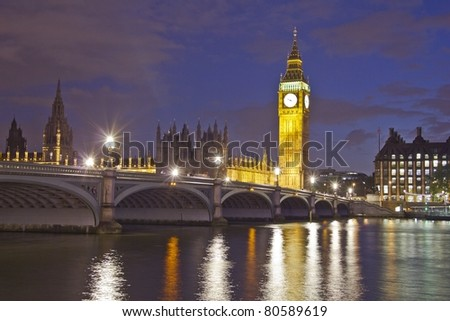 House of Parliament, London, England - stock photo