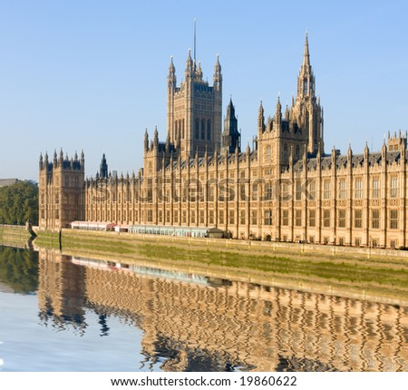 House of Parliament, London, Great Britain - stock photo