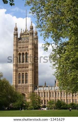 House of Parliament/Palace of Westminster 2 - stock photo