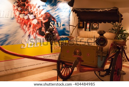 House of Sampoerna, Surabaya, East Java, Indonesia - January 29, 2006 : Old carriage in the museum of the Sampoerna family