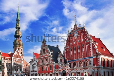 House of the Blackheads in Riga - stock photo