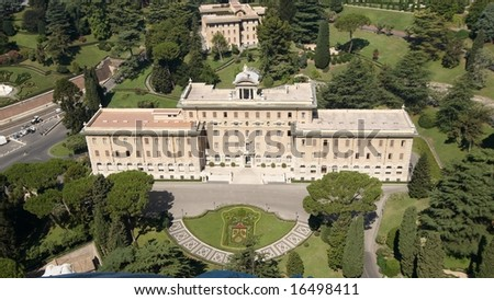 House of Vatican`s governments. Rome, Italy.