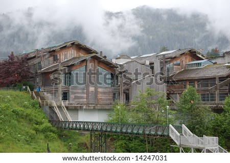 House on a hill - stock photo
