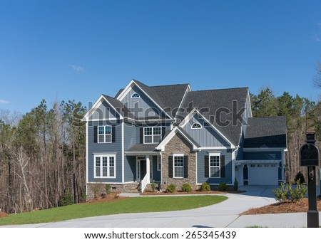 House on a hillside - stock photo