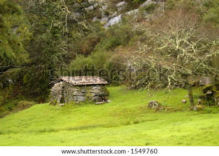 house on the portuguese national park - stock photo