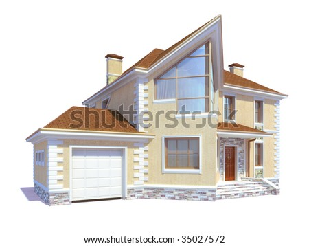 house on the white background