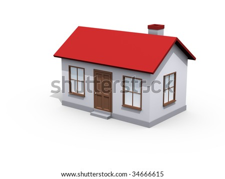 House on white background