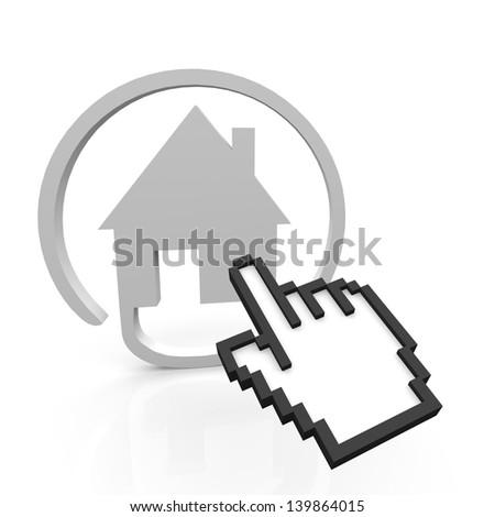 House online - stock photo