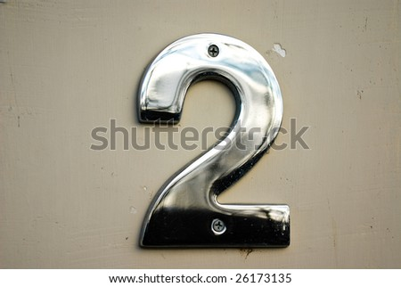 House or office number 2 on street - stock photo