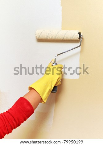 House painting - stock photo