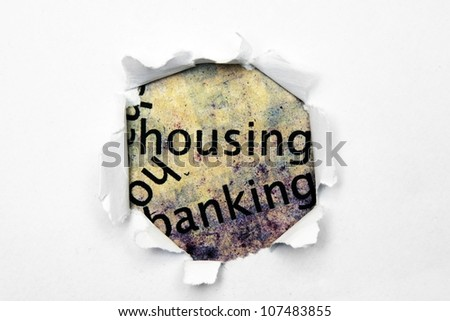 House paper hole - stock photo