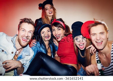 House party - stock photo