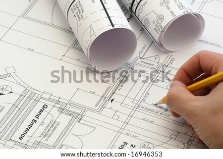 house plan - stock photo