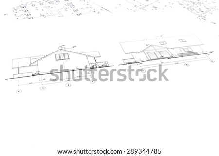house plan blueprints for new housing development, architectural background