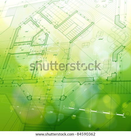 House plan: vector blueprint. Bitmap copy my vector ID 76322218