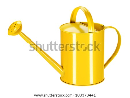 House plants and garden plants can be used for irrigation, watering cans bent sheet metal. - stock photo