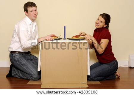 House Poor Couple - stock photo