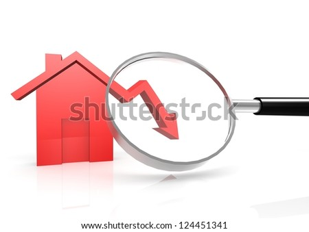House price go down - stock photo