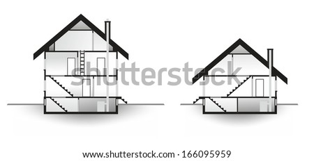 house profile as model for architecture of residential buildings