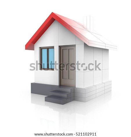 House Project Drawing Turns Into 3d Stock Illustration 519507034 ...