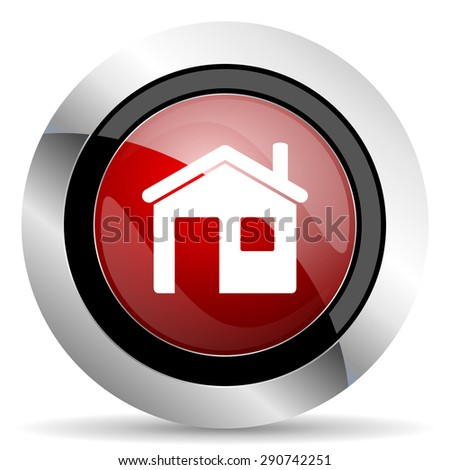 house red glossy web icon original modern design for web and mobile app on white background  - stock photo