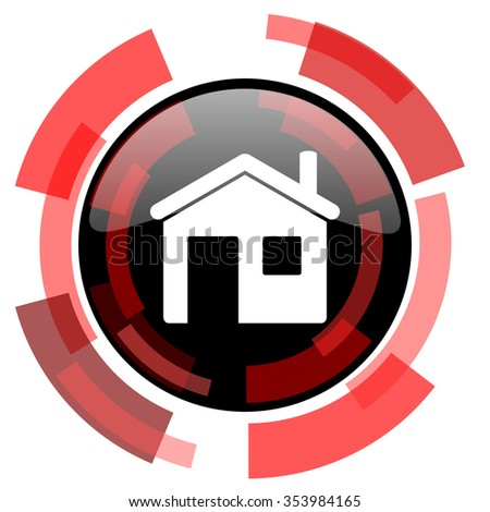 house red modern web icon - stock photo