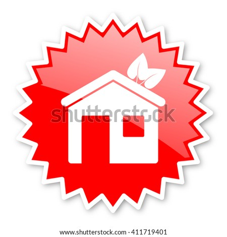 house red tag, sticker, label, star, stamp, banner, advertising, badge, emblem, web icon - stock photo