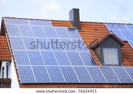 House roof with a photovoltaic system