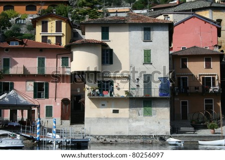 House`s in a small village on Italy`s Lake Como