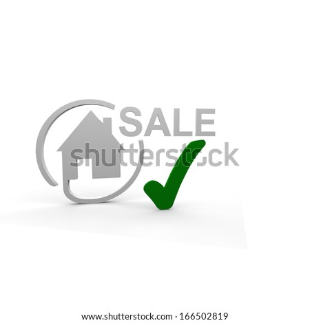 House sale online - stock photo