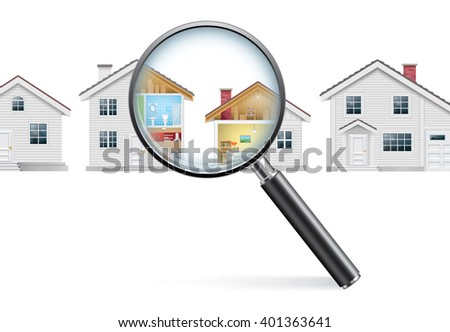 House Search Concept - stock photo