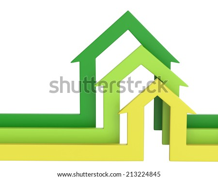 House shape arrows. Business  concept. - stock photo