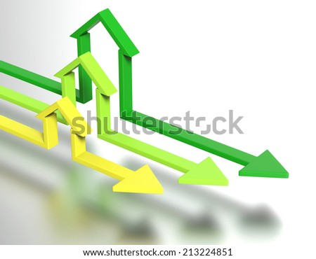 House shape arrows. Business  concept. - stock photo