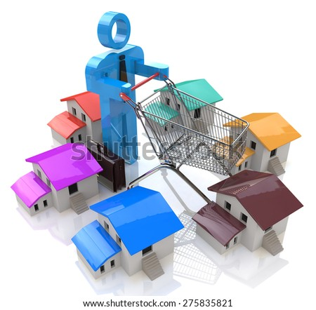 House Shopping - Stock Image  - stock photo