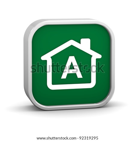 House Sign with A energy performance classification - stock photo