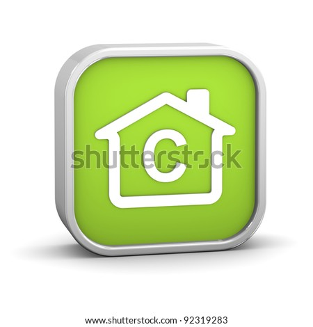 House Sign with C energy performance classification - stock photo