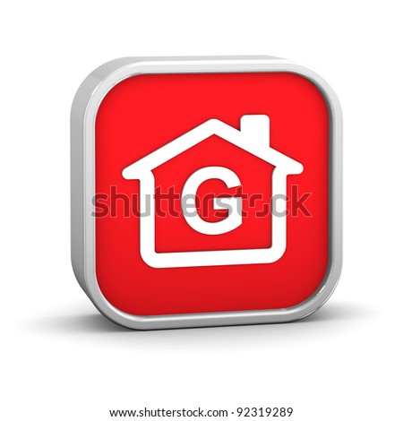 House Sign with G energy performance classification - stock photo