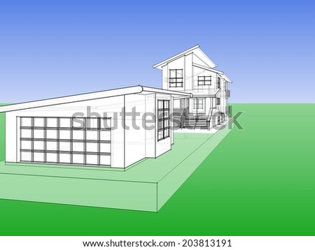 house sketch