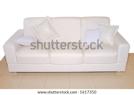 House Sofa with floor - stock photo