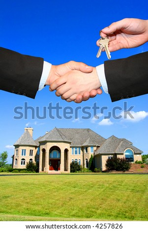 House sold - stock photo