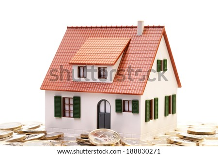 House stands on many euro coins
