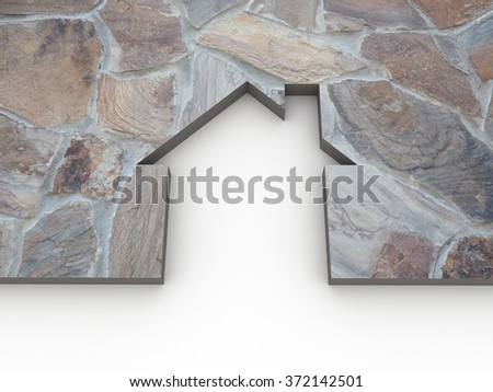 House stone background - stock photo