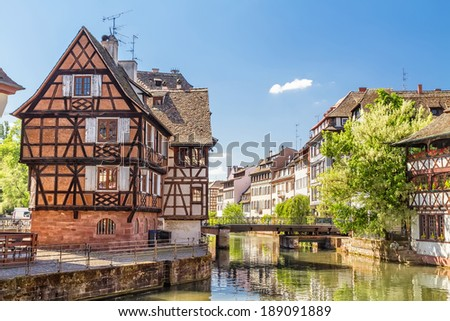 House tanners, Petite France district. Strasbourg, France  - stock photo