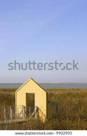 house that leads to nowhere - stock photo