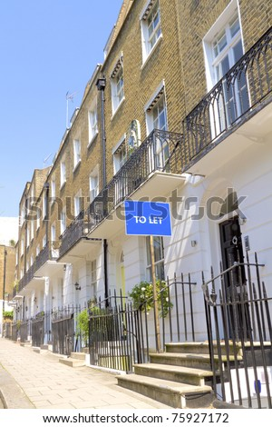House to let in London's Kensington and Chelsea area - stock photo